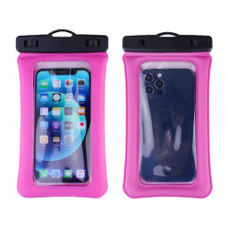 7.2 inch Universal Phone Pouch Protective Underwater Diving Waterproof Phone Bag - Hot Pink