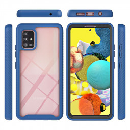 360 Full Body Slim Armor Case with Front Frame for Samsung Galaxy A51 5G - Blue