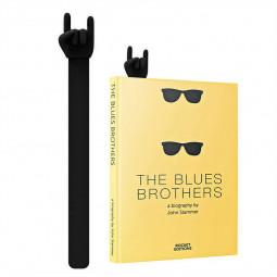 Creative Rock Gesture Music Bookmark - Black