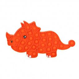 Pop it Fidget Game Among Us Anti Stress Products Triceratops - Orange