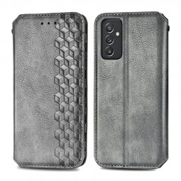 Magnetic PU Leather Wallet Case Cover for Samsung Galaxy A82 - Grey
