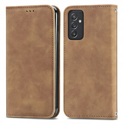 Magnetic PU Leather Wallet Case Cover for Samsung Galaxy A82 5G - Brown