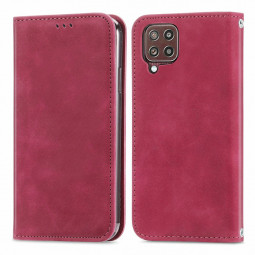 Magnetic PU Leather Wallet Case Cover for Samsung Galaxy M32 - Red