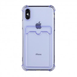TPU Rubber Soft Skin Silicone Protective Case for iPhone XS Max - Purple