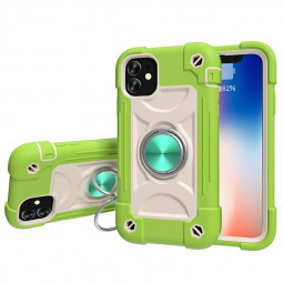 Hard PC Case Cover Shock Absorption Bumper Soft Case for iPhone 12/12 Pro - Guava