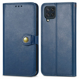 Magnetic PU Leather Wallet Card Case Flip Stand Cover for Samsung Galaxy M32 - Blue