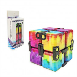 Sensory Infinity Cube Stress Fidget for Autism Anxiety Relief - Mosaic