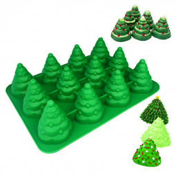 3D Christmas Tree Silicone Cake Chocolate Baking Mold - Green