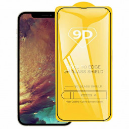 9D Full Cover Tempered Glass Screen Protector for iPhone 13 Pro Max - Black
