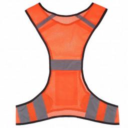 High Visibility Reflective Safety Fluorescent Mesh Vest - Orange