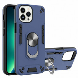 Armor Heavy Duty Dual Layer Ring Shockproof Hard Protective Case for iPhone 13 Pro - Blue