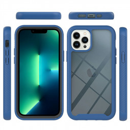 360 Degree Full Body Slim Protective Case with Front Frame for iPhone 13 Pro Max - Blue