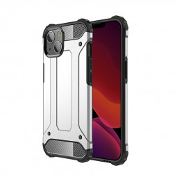 Rugged Armor TPU + PC Combination Back Case for iPhone 13 - Silver