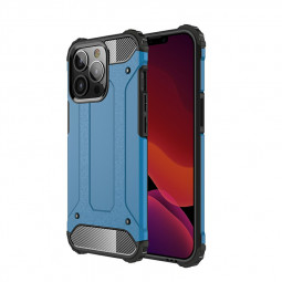 Rugged Armor TPU + PC Combination Back Case for iPhone 13 Pro - Blue