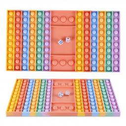 Big Size Push Fidget Rainbow Chess Board Push Bubble Popper Fidget Interactive Stress Relief - Macaron