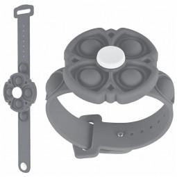Push Pop Bubble Bracelet Fidget Bracelet Rotating Stress Relief Wristband Gifts - Grey