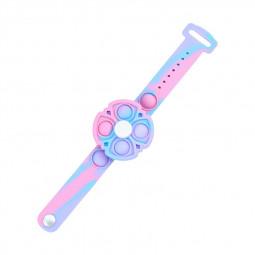 Push Pop Bubble Bracelet Fidget Bracelet Rotating Stress Relief Wristband Gifts - Pink Blue Purple