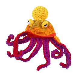 Lovely and Creative Knit Octopus Shape Octopus Hat for Festive Character Play - Yellow