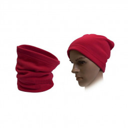 Fleece Neck Warmer Windproof Face Mask for Ski Running Cycling - Hot Pink