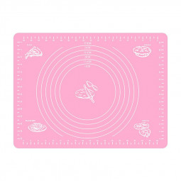 Silicone Non-slip Large Kneading Non Stick Dough Pastry Rolling Baking Mats 30x40cm - Pink