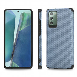 Fibre Pattern PC Hard Protective Back Case for Samsung Galaxy Note 20 - Blue