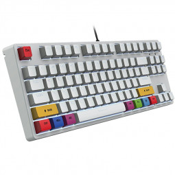 L600 87 Keys Wired Mechanical Keyboard for Gaming Office - White