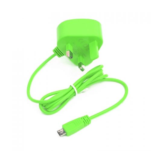 5V 1A Mobile phone Micro USB travel charger--Green