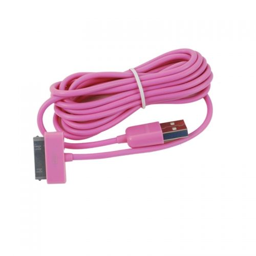 3M Length Connector to USB Power & Data Cable for Apple iPhone 4--Pink