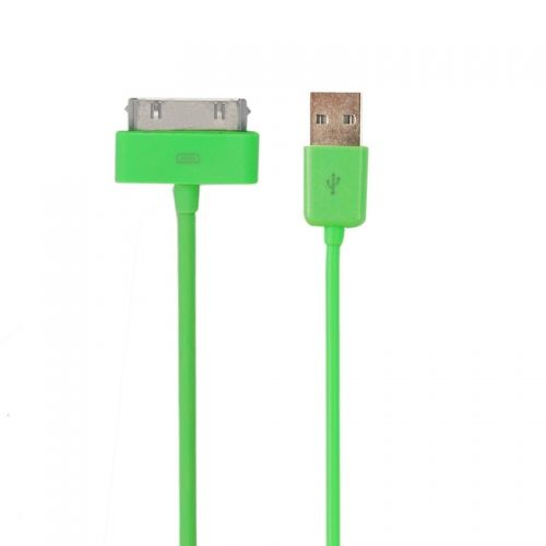 3M Length Connector to USB Power & Data Cable for Apple iPhone 4--Green