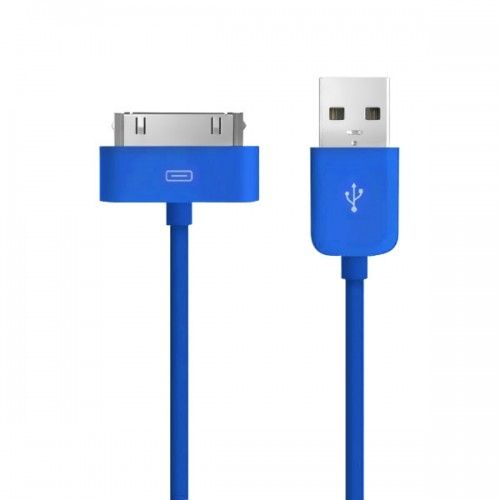 2M Connector to USB Data Sync Power Charger & Data Cable for Apple iPhone 4 iPod-Blue