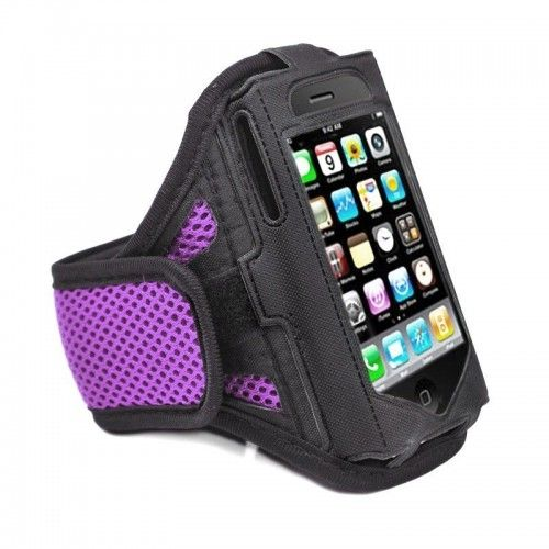 Purple Running Sport Gym Workout Armband Cover Case for Apple iPhone 5