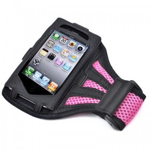 iPhone 4G / 4S Armband Exercise Band Running Cover Sport Gym Workout -Pink