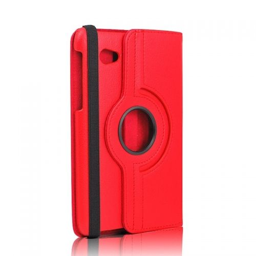 360 Rotation Case Cover for Samsung P3100--Red