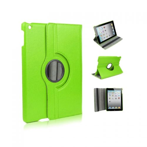 Pure Color Two Fold Stand Case Cover for iPad 5(Air)---Green