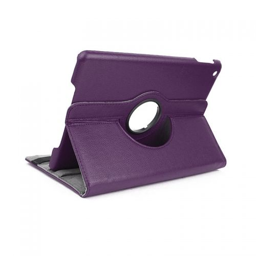 Pure Color Two Fold Stand Case Cover for iPad 5(Air)---Purple