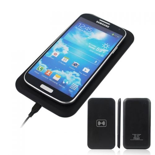 QI Oblong Wireless Charging Transmitter for QI Standard Mobile Phones- Black