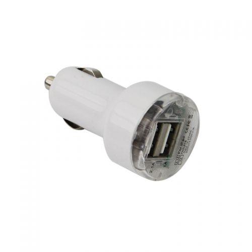 Dual USB Ports Nipple Car Charger- White