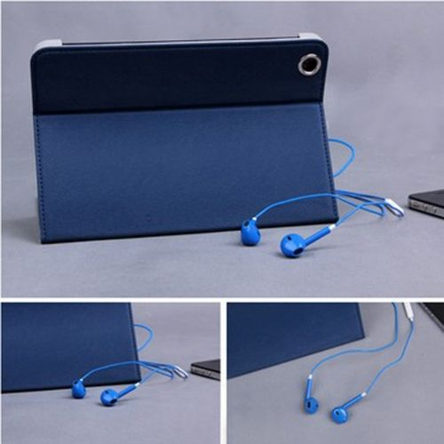 Earphone Headset with Remote & Mic for iPhone 5 Touch 5 iPad2 3- Blue