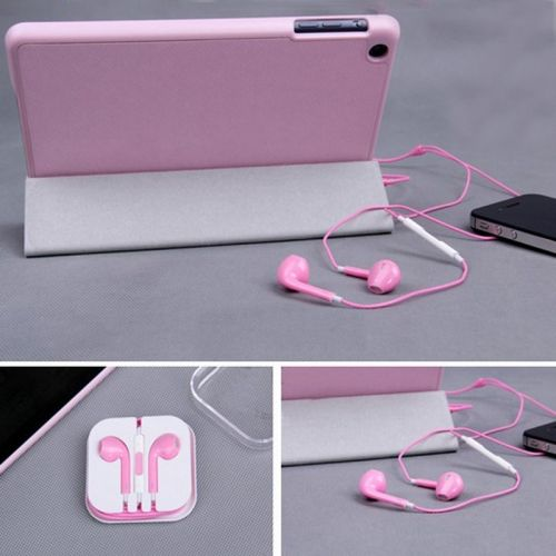 Earphone Headset with Remote & Mic for iPhone 5 Touch 5 iPad2 3- Pink