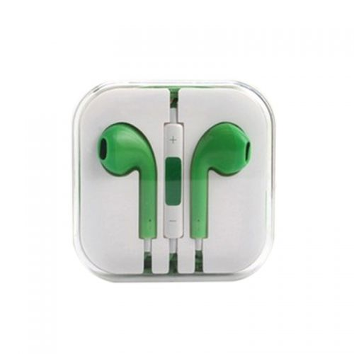 Earphone Headset with Remote & Mic for iPhone 5 Touch 5 iPad2 3- Green