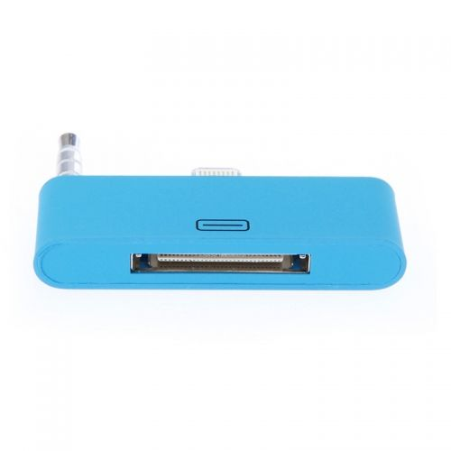 30 pin to 8 pin AUDIO Adapter Converter for Dock Station iPhone 5 iPod Touch- Blue