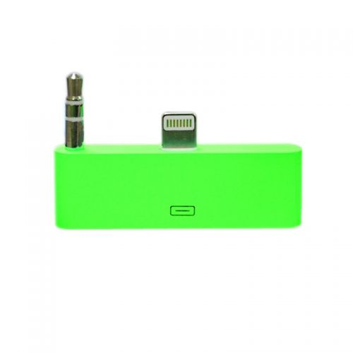 30 pin to 8 pin AUDIO Adapter Converter for Dock Station iPhone 5 iPod Touch- Green
