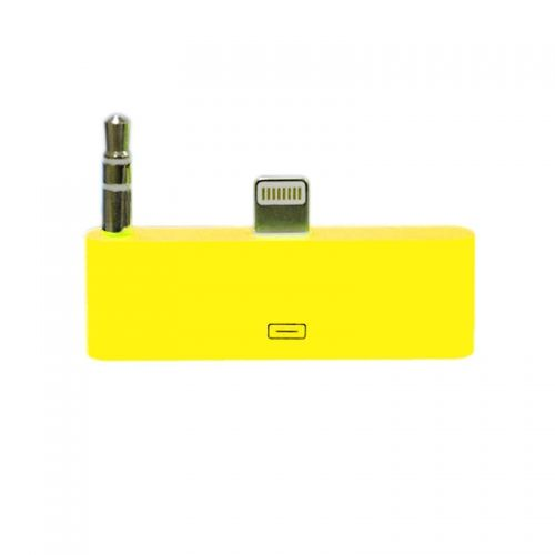 30 pin to 8 pin AUDIO Adapter Converter for Dock Station iPhone 5 iPod Touch- Yellow