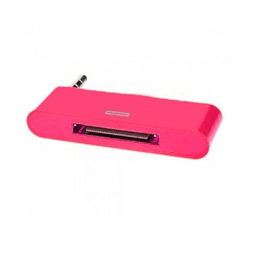 30 pin to 8 pin AUDIO Adapter Converter for Dock Station iPhone 5 iPod Touch- Rose Red