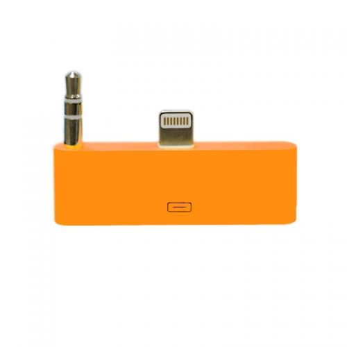30 pin to 8 pin AUDIO Adapter Converter for Dock Station iPhone 5 iPod Touch- Orange