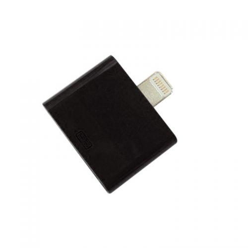 For Apple 30 Pin to Lighting Adapter iPhone 5G iPad Mini iPod Nano- Black