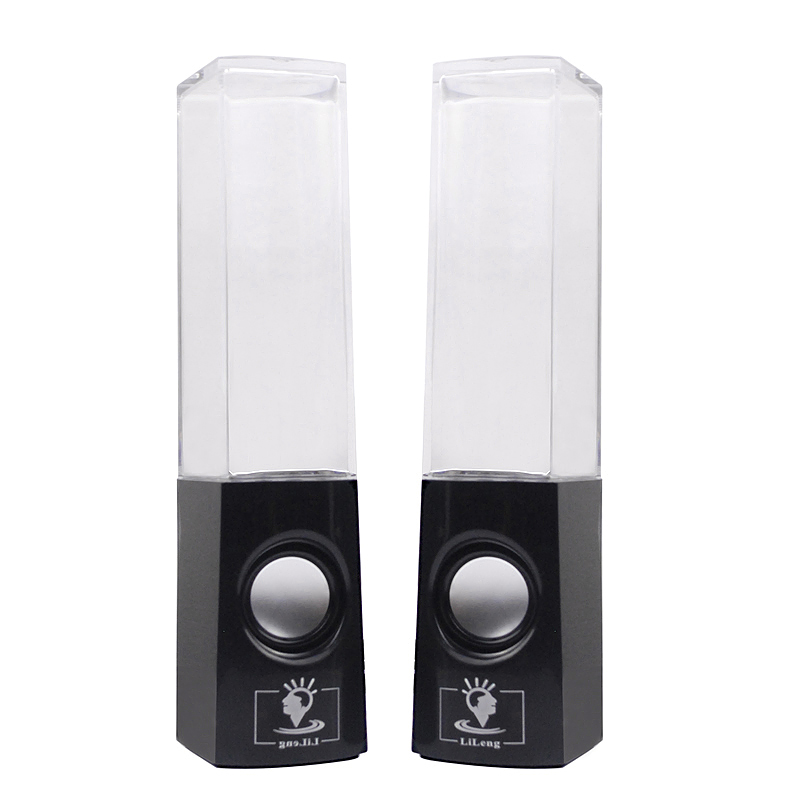 USB LED Light Dancing Water Fountain Speakers For Laptop PC/MP3/Pod/ipad/iphone- Black
