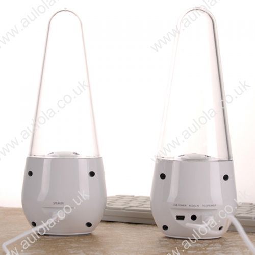 Bullet LED Light Dancing Water Fountain Speakers for Laptop /MP3 /ipad/ iphone- White