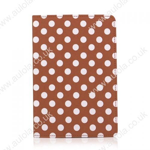 IPAD 2/3 Brown DOTS PREMIUM PROTECTOR CASE COVER / FOLDING STAND