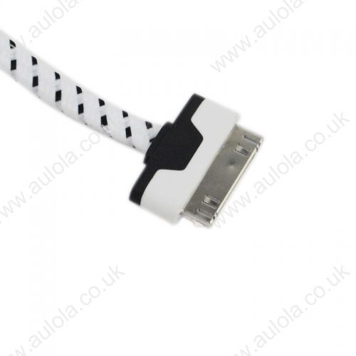 1M Knitted USB 2.0 to Charge&Data Cable for Iphone 4G/4S- White